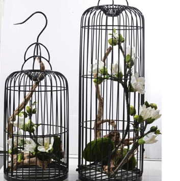 鸟笼 婚礼摆件 婚庆道具 欧式白色落地式 复古灯笼 橱窗路引