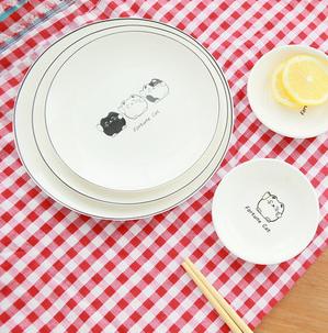 37度 zakka可爱陶瓷盘子 小号招财猫骨瓷餐盘 韩式创意家居用品