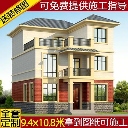 独栋三层别墅设计图纸农村自建房施工图全套二层半别墅图纸楼房