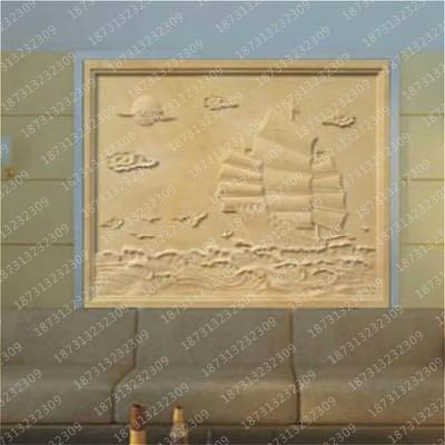 石雕青石雕刻花草雕塑虫鱼浮雕摆件图案地雕墙雕壁画一帆风顺砂岩
