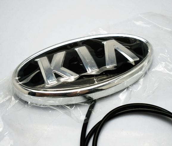 厂家直销包邮起亚k5专用汽车4d后标志装饰灯冷光标led车标灯