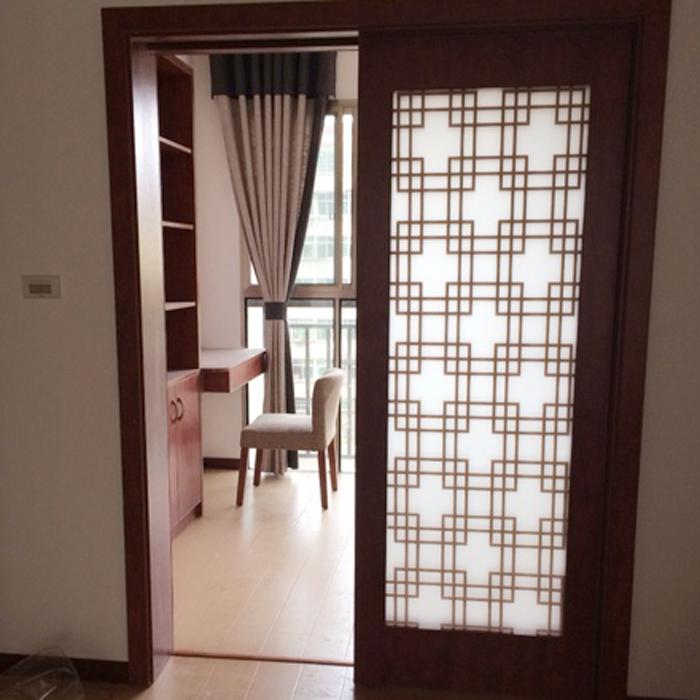 中式玻璃贴膜卧室不透明窗户贴纸茶楼阳台饭店复古窗花咖啡色格子图片
