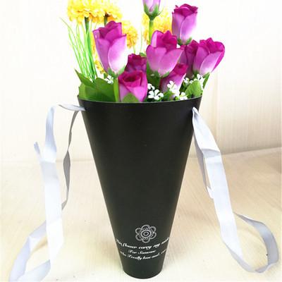 鲜花包装纸材料 韩式花束甜筒包花桶 鲜花手提袋批发 小甜筒