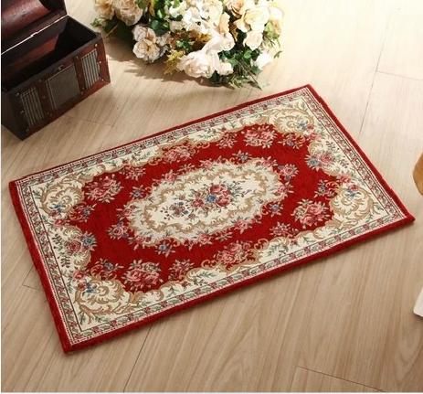 00 ☆ 印度进口红色禅意中式艺术混搭后现代风格纯手工棉布编织地毯 t图片