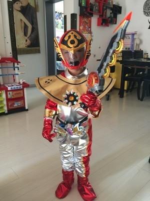 儿童动漫巨神战击队2cosplay服装紧身铠甲勇士奥特曼六一衣服套装