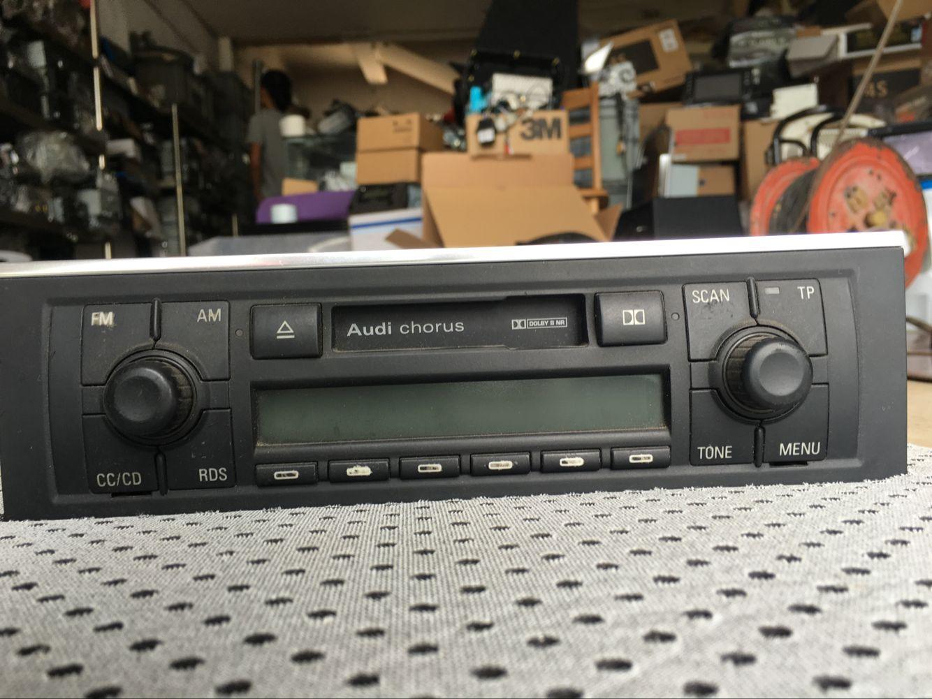 老款奥迪a4 b6原车卡带机收音机 老a4原厂原装六碟cd碟盒音响主机