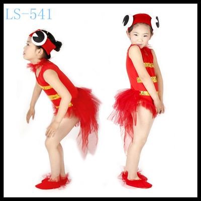 六一儿童鲤鱼卡通动物表演服装小金鱼演出服幼儿小鱼儿舞台造型服