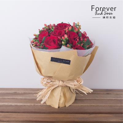 最相思 红玫瑰鲜花花束 牛皮纸小清新 11支19支33支 情人节 七夕图片