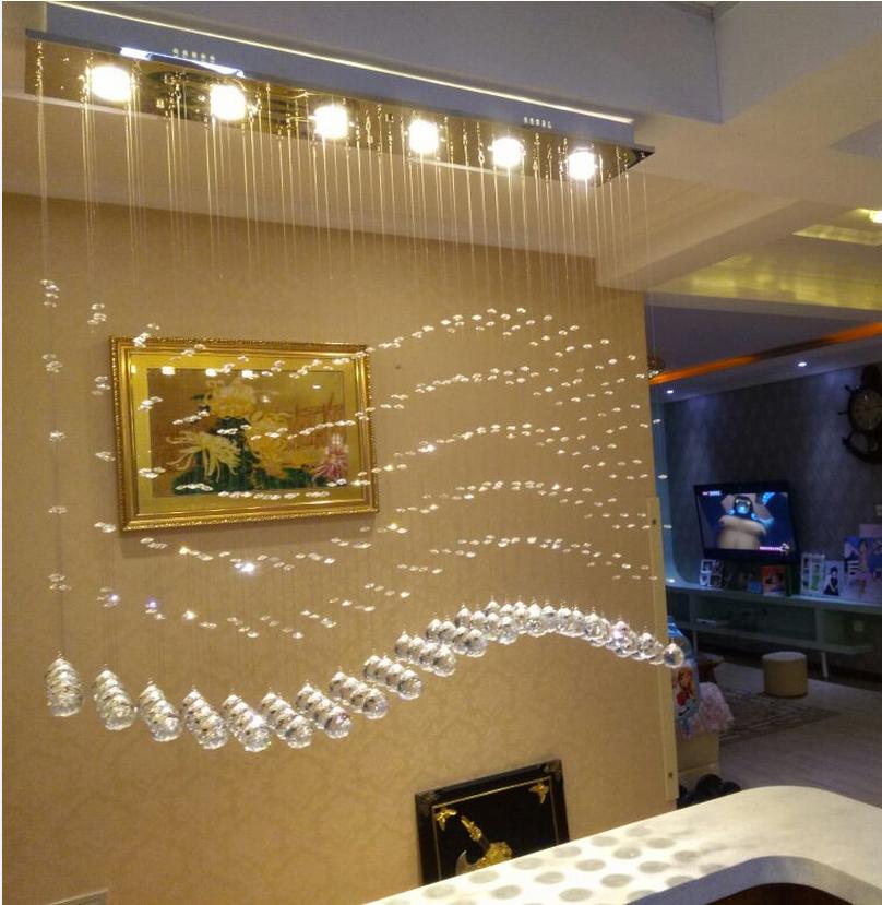 吧台水晶吊灯创意客厅餐厅灯隔断三头波浪餐桌吊灯
