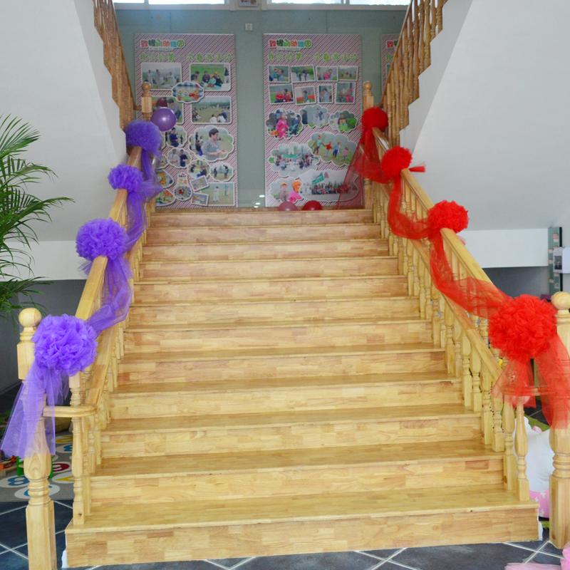 纱幔花球 结婚庆用品婚房客厅拉花楼梯扶手车头装饰
