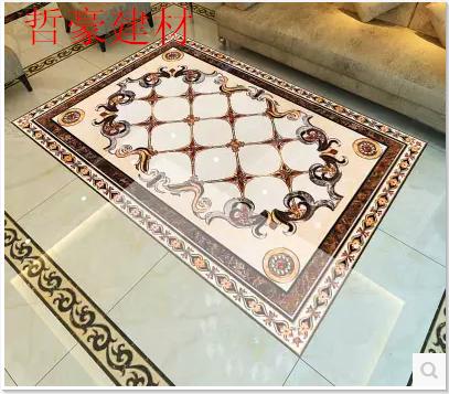 镀金抛晶砖抛金砖拼花客厅瓷砖走廊玄关大厅地砖欧式