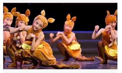 幼儿园袋鼠扮演动物服装幼儿舞蹈演出服饰儿童视频鼠