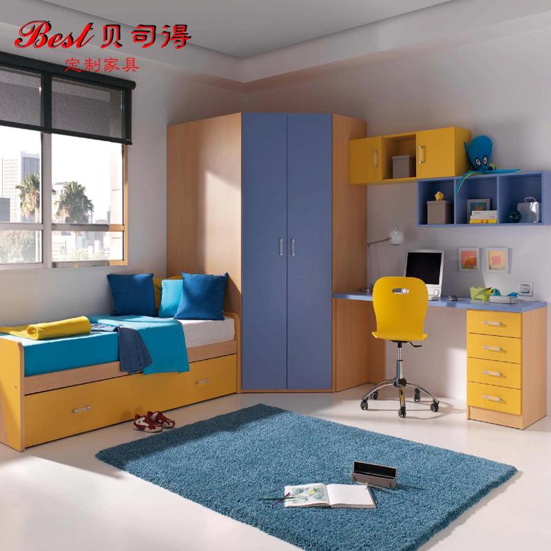南京贝司得儿童套房家具定制衣柜书柜电脑学习书桌