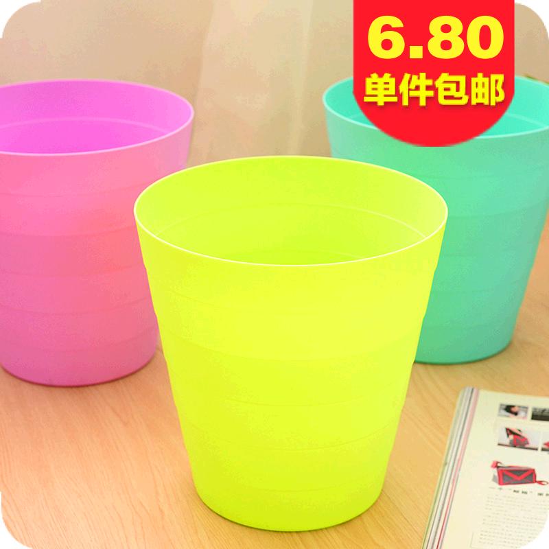 4237 卫生间大号垃圾桶 创意时尚欧式客厅厨房家用无盖小垃圾筒