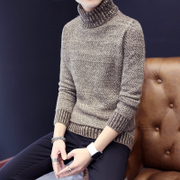 Winter new men's Korean turtleneck sweaters to turn solid thickened young students coat male tide