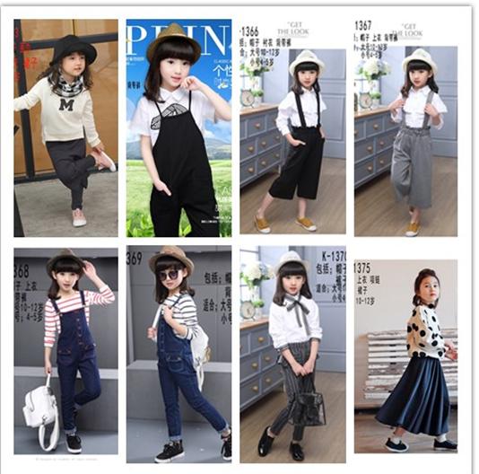 高档女童儿童礼服影楼拍照服装长袖秋款模特t台走秀表演出服装图片