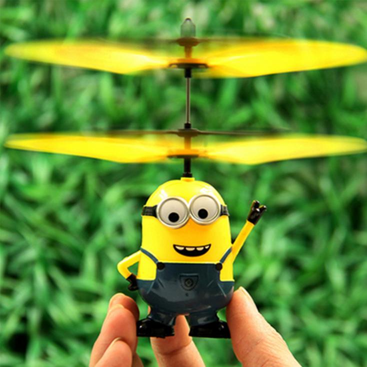 小黄人感应飞行器 遥控飞机 感应飞机 儿童礼物 儿童玩具