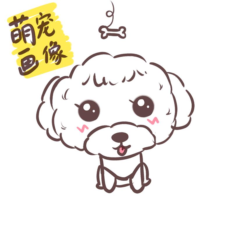 宠物画像q版卡通形象设计定制动物转手绘漫画插画头像肖像狗狗猫