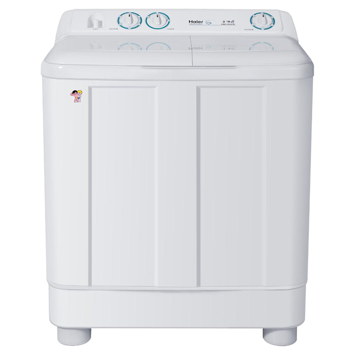 5公斤双桶波轮洗衣机可移动脚轮