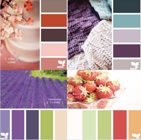 网页设计室内软装插画搭配颜色卡