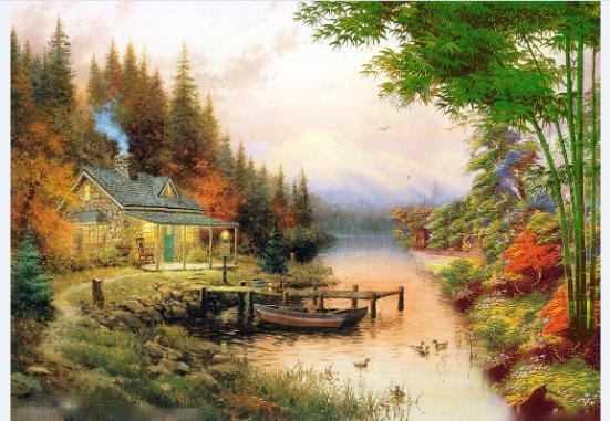 纯手绘油画 定制风景 人物肖像头像 家居装饰礼物 油画 可发照片