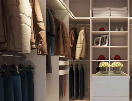衣帽间3d模型 更衣室换衣间装修3dmax模型设计素材