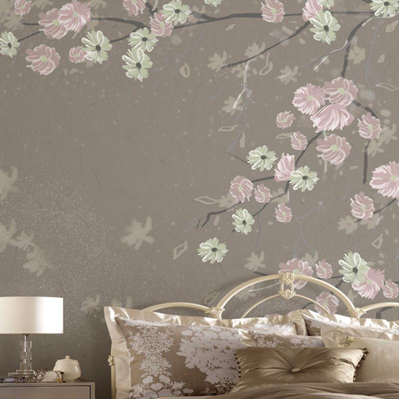 欧式复古手绘墙纸 客厅电视背景墙壁纸