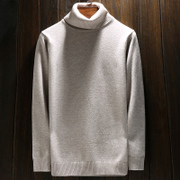 Autumn and winter Korean men turtleneck sweater British male youth warm sweater tide male backing