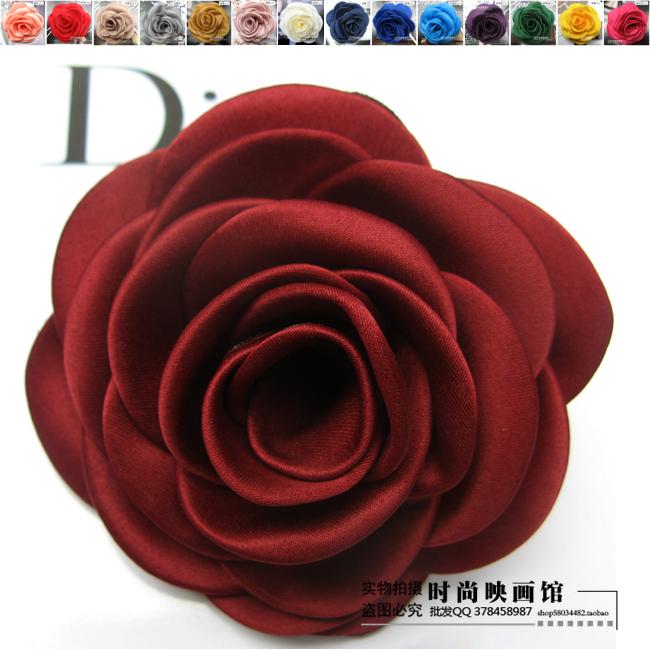 立体玫瑰花 韩国高档布艺大花朵胸花胸针头花