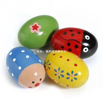 Egg Wooden Baby Toy Music Shaker Instrument Percussion Col