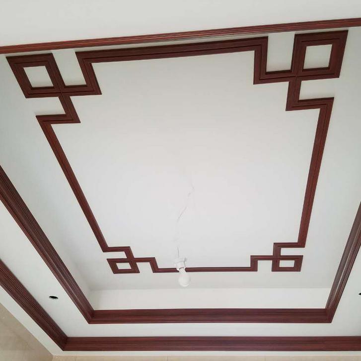 欧式装饰材料天花吊顶pu线条仿红木平线65021 顶角线63023