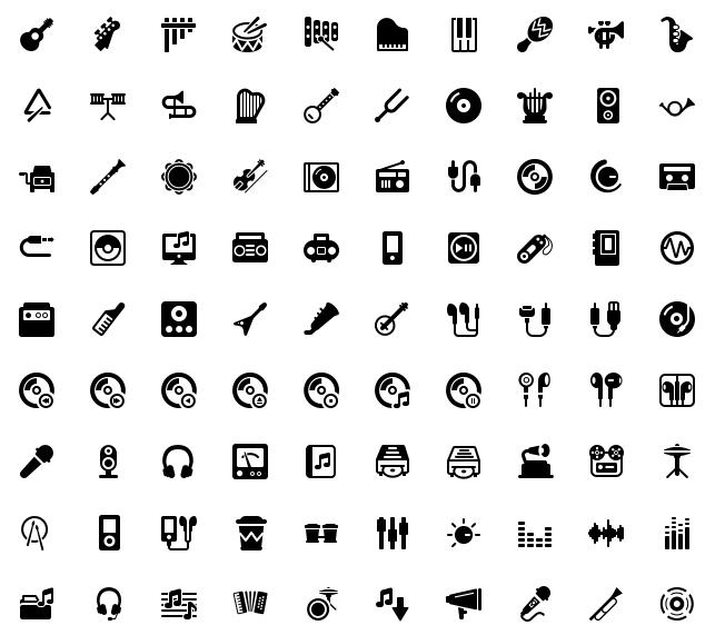 2000个黑白生活服务ico图标标识手机电脑设计矢量psd素材(含png)