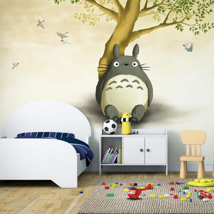 卧室龙猫墙体彩绘图片大全