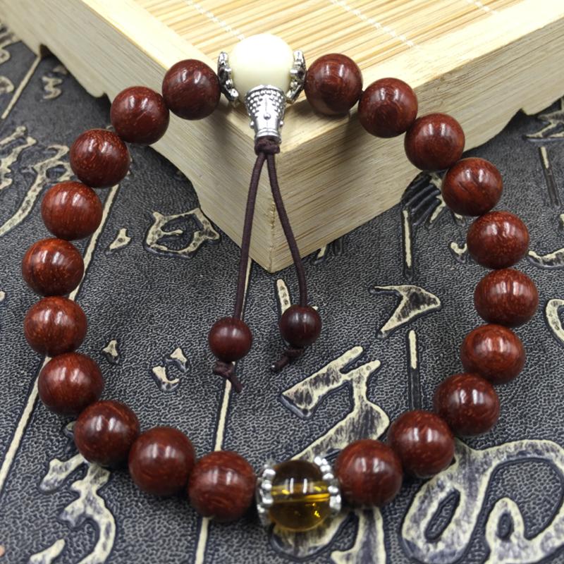 【天天特价】正宗非洲小叶紫檀/血檀木质佛珠手串