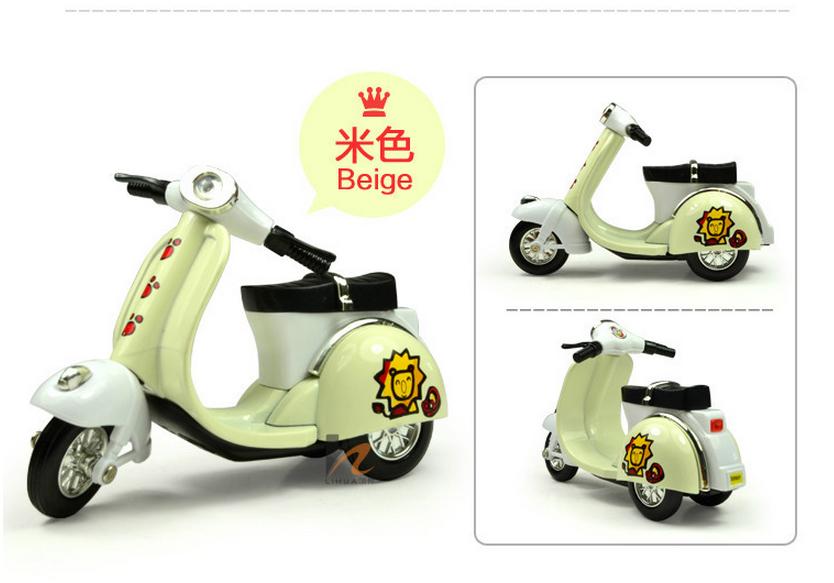 全网最最可爱q版合金回力车模 摩托车龟仔男女孩儿童玩具图片