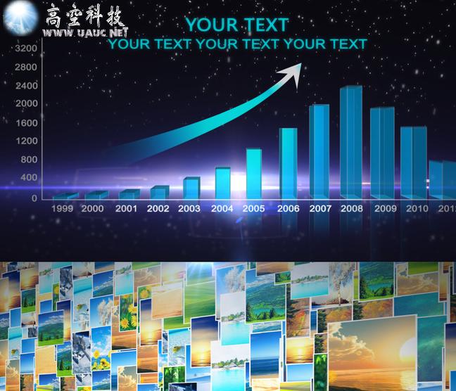 最新大气3d照片墙汇聚中国地图展示企业网点分布地图