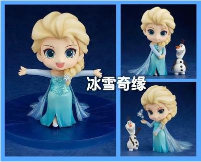 q版 冰雪奇缘 frozen 3款q版 冰雪女王 艾莎 跳舞 微笑 魔法 公仔