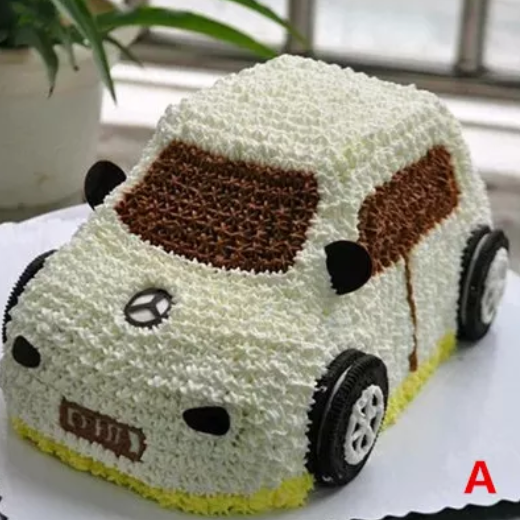 男宝宝生日小汽车警车卡通蛋糕上海福州泉州厦门福清