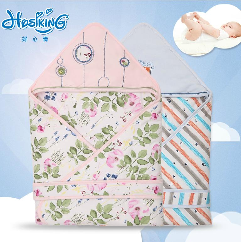 正品保障好心情粉色水粉世界针织夹棉婴儿抱毯宝宝抱被妈妈的必备