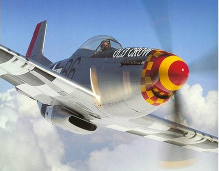 迷你p51图纸美国野马战斗机图纸遥控轻木油动固定翼