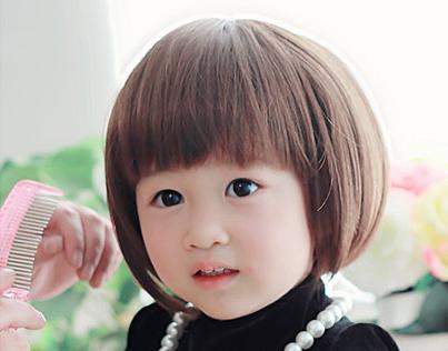 出口欧美 高端儿童假发 宝宝发套潮宝时尚动感帅气女生bobo头短发