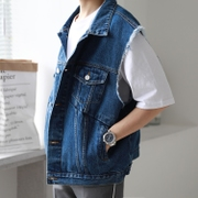 MP/17ss girlfriend can also wear denim casual casual sleeveless jacket