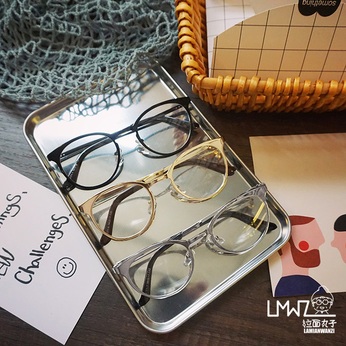 Korean art retro metal full circle in the face frame glasses and personality spectacles tide Lovers