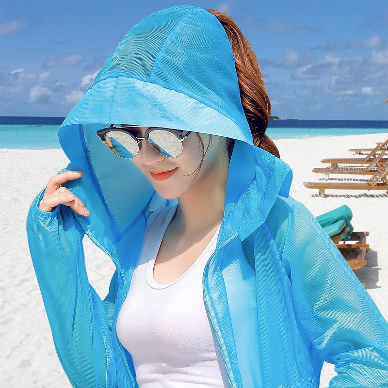 2018夏季新款防曬衣女裝中長款薄外套開衫韓版潮長袖防曬服防曬衫