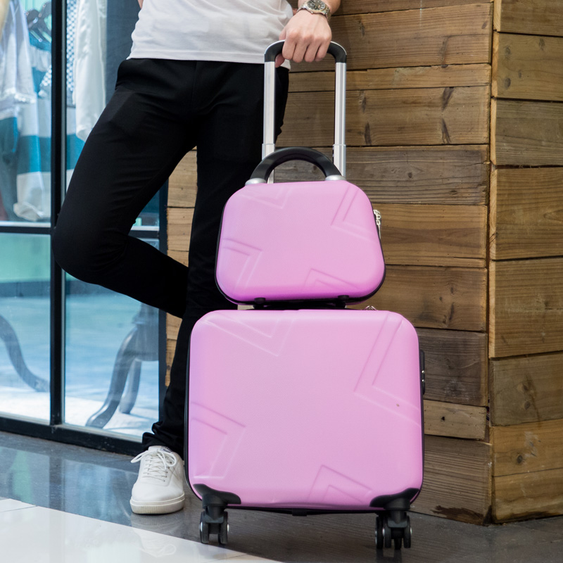 Small suitcase wheels 16 inch luggage female 17 inch rod boarding box 18 inch mini lash box to the students