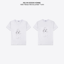 RELVIN DESIGN brand Monroe Monroe T-shirts hand-painted prints V collar cotton short sleeved T-shirt man