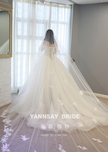 Yan Qin wedding dress, pure age word, shoulder heavy nail, bead princess dress, Princess Diaries, wedding dress