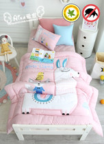 South Korean direct mail Aika purchasing childrens bed pretty pink winter warm Linter quilting quilt pillow case