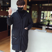 Purchase new men's loose hooded long padded coat in winter fashion Korean Quilted Jacket