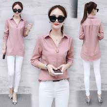 The shirt shirt female autumn fashion temperament in spring and autumn all-match long sleeved jacket new slim lady